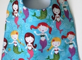 Toddler Bib:  Mermaids for A Little Girl