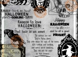 """Halloween Medley #2"" Digi Image and Word Art Set"