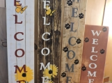 Rustic Hand Painted Welcome Signs
