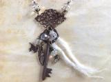 Skeleton key necklace,skeleton key jewelry,key necklace,skeleton key pendant,skeleton key,key,woman gift,bridesmaid gift