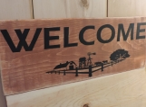 Welcome To The Farm Sign.