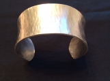 Cuff Bracelet, silver, handmade, hammered