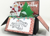 Santa Claus Pop Up Card in a Box