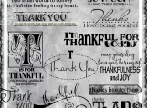 """Thankfulness"" Word Art Set"