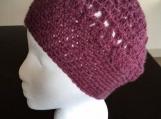 Purple crochet hat , beanie