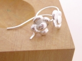 fine silver daisy drop earrings