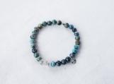 African Turquoise & Argentium Silver Bracelet