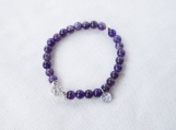 Amethyst & Argentium Silver Bracelet
