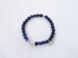 Dumortierite & Argentium Silver Bracelet