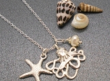 Octopus and Starfish Necklace