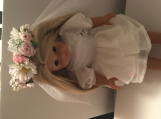 "18"" American Girl Doll Wedding Dress and Floral Veil"