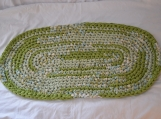 Crocheted Rag Rug - Oval #23