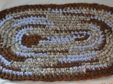 Crocheted Rag Rug - Oval #22