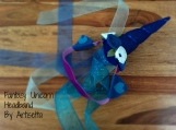 STARLIGHT UNICORN Fantasy Headband w/ sheer ribbon veil, blue / white, Cosplay, dressup, brony, bronies, Halloween, child, adult
