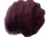 Wool Roving - NAVY PURPLE HEATHER Dorset Wool Roving - Canadian Wool, wet felting - needle felting - wool roving - spinning - medium fiber