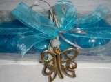 Blue Butterflies Gift Set: Luxury Soaps & Butterfly Necklace