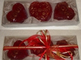 Cream Ecru Valentine Gift Pack Heart Red Luxury Scented Soaps