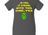 """Force is Strong Yoda"" Gray Creeper Baby Onesie"