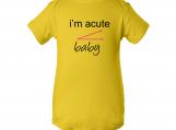 I'M Acute Baby Yellow Baby Creeper Onesie