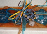 Orange Valentine Gift Set Women, Fine Soaps Boho Heart Bracelet