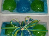 Spring Grass Green Aquamarine Soaps Gift Set for Father's Day