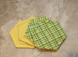 Yellow Decorative Cotton Coasters