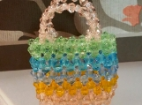 Beach Bag Purse Crystal Charm Handmade