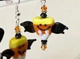 Candy Corn Bat Earrings