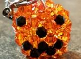 Halloween Pumpkin Handmade Beaded Crystal Charm
