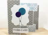 Balloons Tri-Shutter Birthday Card