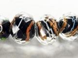 Bracelet Glass Beads, Gold Gilt, Copper Dagger Stone Beads