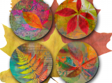 Fall Coasters - fall colours, hostess gift, wedding gift