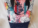 Insulated lunch bag, waterproof lunch bag, adult lunch bag, kids lunch bag, flowers