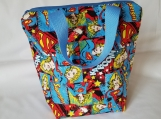Insulated lunch bag, waterproof lunch bag, kids lunch bag, adult lunch bag, lunch tote, Supergirl