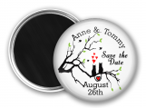 Save The Date, Magnet, Whimsical, Cats in a Tree