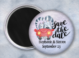Save The Date, Magnet, Whimsical, Cats in Car