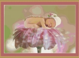 Asleep On The Flower Cross Stitch Pattern
