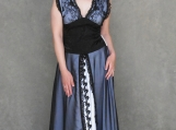 Black and White Lace Floor Length Gown ( M )