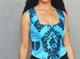 Blue Gothic Corsetted Top - S,M,L