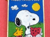 Father's Day Gift Tag, Snoopy, Wood Glitter Gift Tag