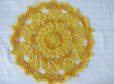 "Gold 10.5"" Doily-Variegated Pineapple Cotton Doily-Cindy's Loft"