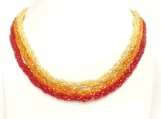 Handmade Crocheted Bead Necklace - Memet Fire Collection