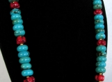 Red and Blue Turquoise Jewelry Set