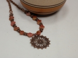 Antique Copper Pendant Necklace
