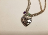 Friends forever necklaces / silver necklace / heart friends forever necklaces