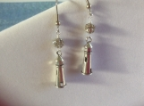 Lighthouse earrings with rhinestone bead