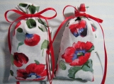 "Memorial Day Poppies 4""X2"" Sachet-'Wildflowers' Fragrance-005"