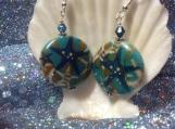 Starfish reconstituted stone handmade earrings