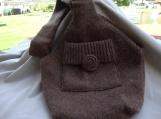 Wool sling purse