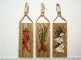 Vegetable Wall Plaques DO/NB  Set of 3
